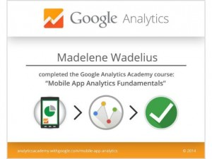 Mobile App Analytics - Madelene Wadelius