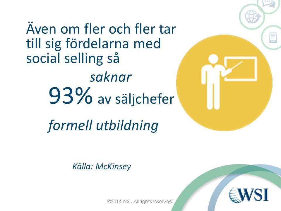 Säljchefer saknar utbildnng i social selling