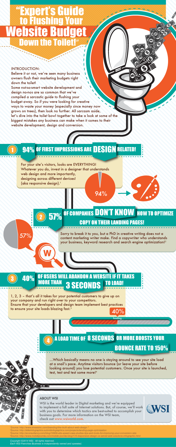 Infographic - Experts Guide to Flushing Your Website Budget Down the Toilet